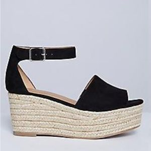 Black espadrille sandals sz 9W Lane Bryant